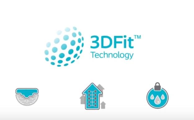 Se hvordan Biatain Silicone 3DFit®-teknologien fyller åpningen og hindrer oppsamling av eksudat.