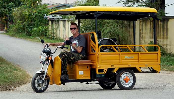 Kenneth i tuk-tuk